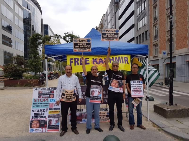 Kashmir Council EU organizes camp in Brussels against