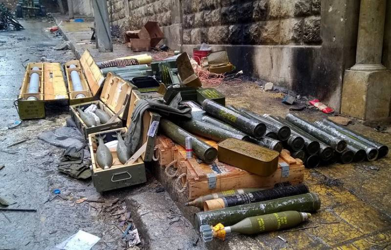 Syrian Army discovers Israeli made weapons from ISIS dens