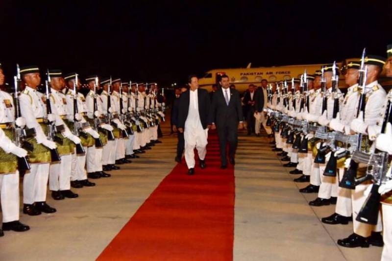 PM Imran Khan given an unprecedented red carpet welcome upon arrival in Malaysia
