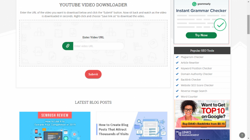 download youtube video using url link