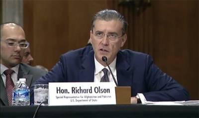 US special envoy on Pak-Afghan Richard Olson praises Pak Army efforts in eradicating terrorism