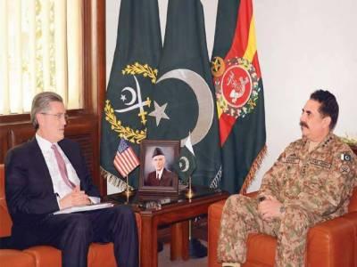 US special envoy on Pak-Afghan Ricard Olson meets COAS
