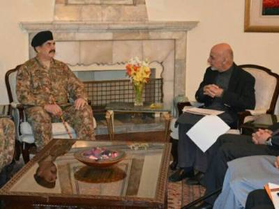 COAS meets Ashraf Ghani in Kabul and participated in change of US command ceremony