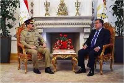 COAS offers counter terrorism cooperation to Tajikistan President