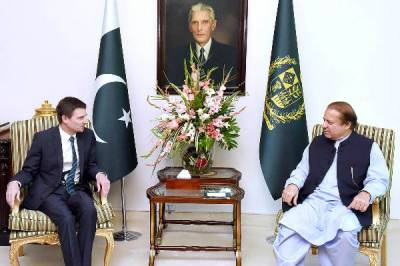 ISLAMABAD: US Ambassador calls on PM Nawaz Sharif in Islamabad