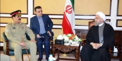 COAS Raheel Sharif meets Iranian President Dr. Hasan Rouhani