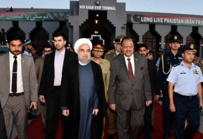 Iranian President Dr. Hasan Rouhani calls on President Mamnoon Hussain