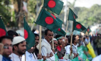Thousands throng streets of Dhaka against Haseena Wajid Secularism