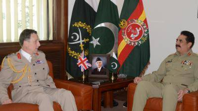 British CGS General Nicholas Carter calls on COAS in GHQ