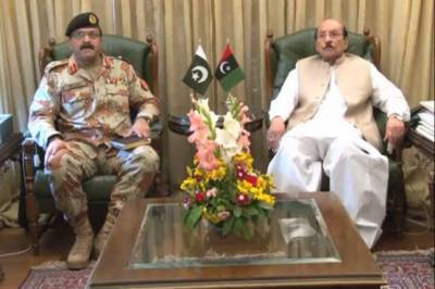 DG Rangers discusses important issues  with Sindh CM