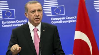 Erdogan takes EU head on