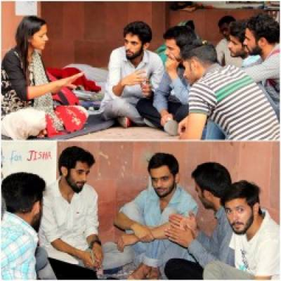 Jammu and Kashmir Students Union visit JNU University to show solidarity