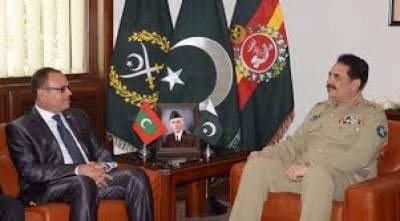 Maldevis Defence Minister calls on COAS Raheel Sharif
