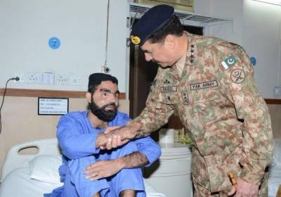 COAS meets wounded war heroes