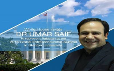 Dr Umar Saif gets invitation from White House for GES 2016