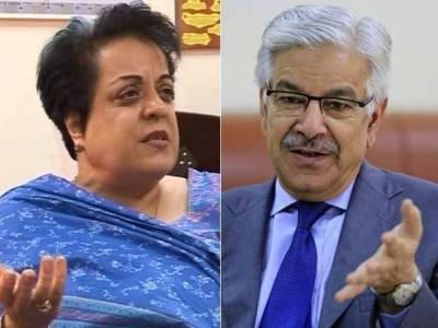 Khawaja Asif insults PTI Shireen Mazari in NA