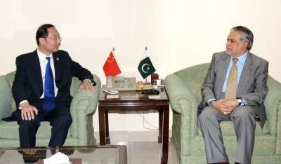 Chinese Ambassador discusses important issues with Ishaq Dar