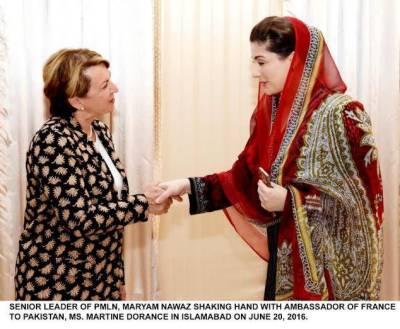 French Ambassador calls on Maryam Nawaz Sharif