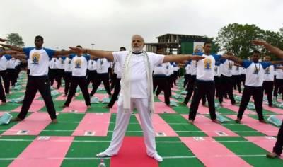 Yoga Day: Indian PM Narendra Modi leads world yoga day