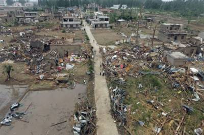Tornado in China plays havoc