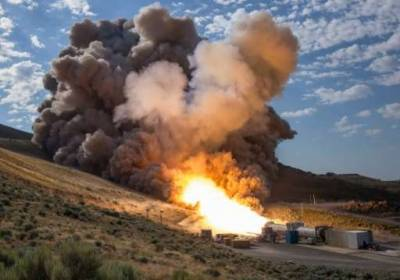NASA tests deep space rocket booster