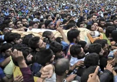 Kashmir buries its young armed resistance leader Burhan Wani among tears.