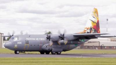 PAF C-130 wins best aircraft trophy at Royal International Air Show
