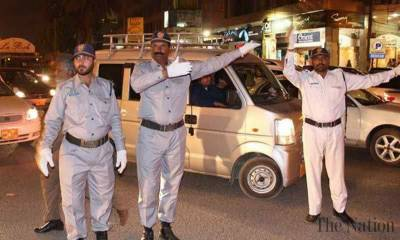 Karachi Police violations of traffic new rules implemented