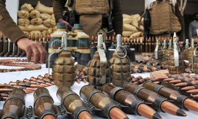 Rangers seize huge cache of arms and ammunitions from Karachi