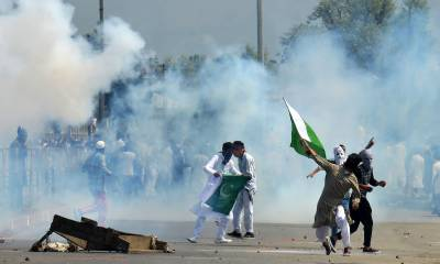 Indian forces open fire on protestors chanting pro Pakistan slogans in IOK