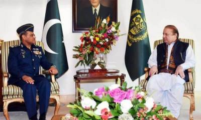 PM discusses national security issues with PAF Chief