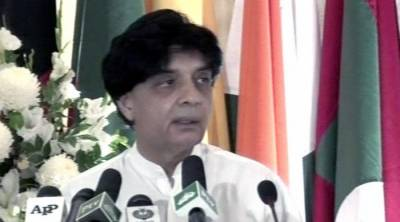 Ch. Nisar harshly criticises India on Kashmir brutalities in presence of Indian Home Minister
