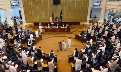 KPK government resolution in Assembly for banning interest