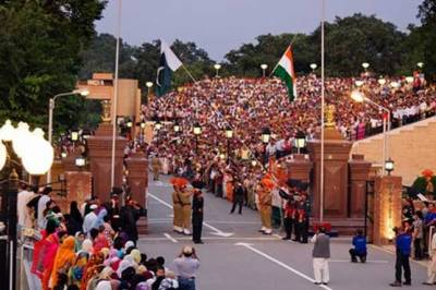 Independence Day Flag Lowering Ceremony at Wagah Border