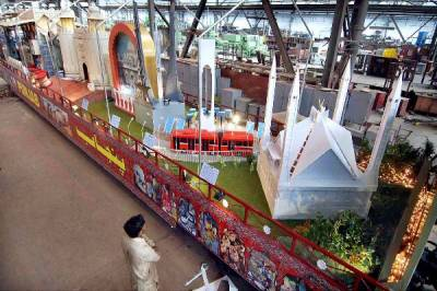 Azadi Train celebrations in city of saints
