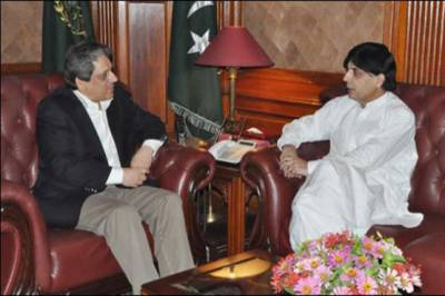 Ch. Nisar holds meeting with Governor Sindh
