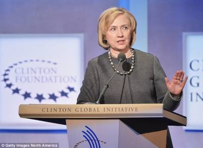 Hillary Clinton receives intelligence briefing by FBI