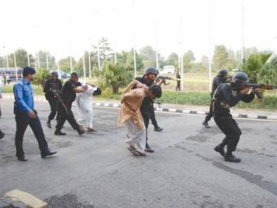 Islamabad Police perform mock exercies