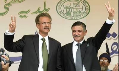 Mayor Karachi Wasim Akhtar first address