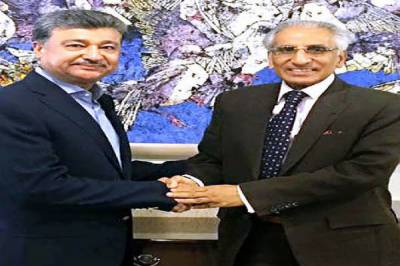 Mayor Islamabad  calls on Tariq Fatemi