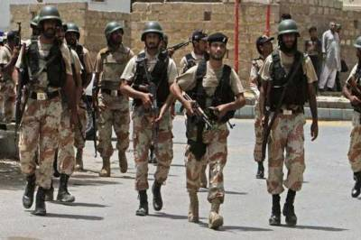 Rangers recover weapons buried underground in Lyari