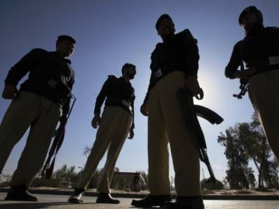 Police Vehicle under attack in Swabi