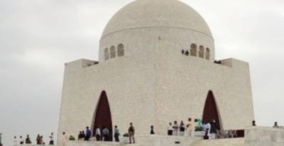 Wreath laying at Quaid's Mazar by three services held