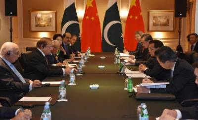 PM Nawaz Sharif meets Chinese premier on sideline of 71st session of UNGA