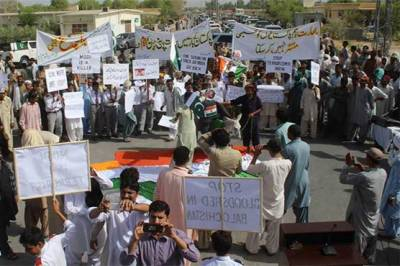 Protest demonstrations held in Quetta against Indian PM
