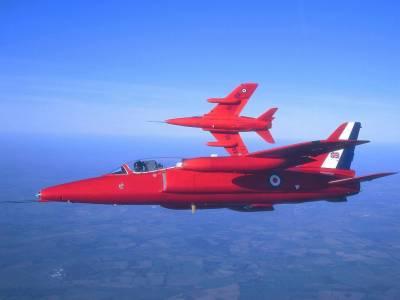 Red arrows, World renowned aerobatics team from UK arrive at Karachi