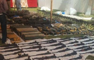 Sindh Police recovers biggest cache of arms from Azizabad, Karachi