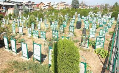Grave space running out in Martyrs Graveyard Srinagar as number of dead increases