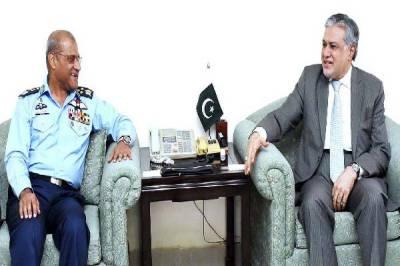 Air Chief Marshal Sohail Amman meets Finance Minister