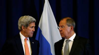 John Kerry and Russian counterpart Lavrov meet face to face